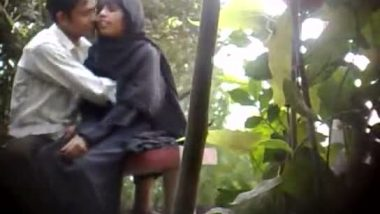 Tits fondled and smooched outdoor