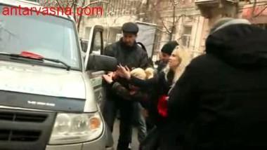 Ukrainian Women Semi Nude Protest