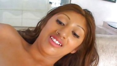 Hispanic Beauty Anal Sex And Loving The Cumshot To End
