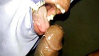 very rough sloppy ring gag throat job and cum puke