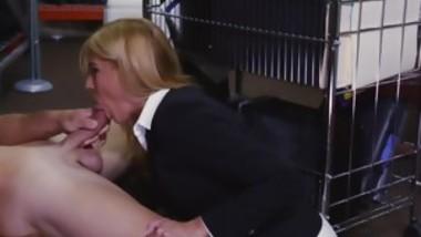 Amateur blonde xxx Hot Milf Banged At The PawnSHop