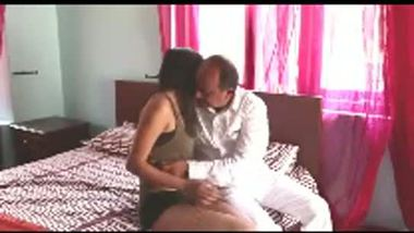 Desi hot girl romancing with the local minister