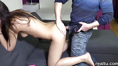 Striking czech nympho was seduced in the shopping centre and