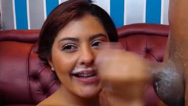 Hot sexy latina likes blowjob deepthroat black cock