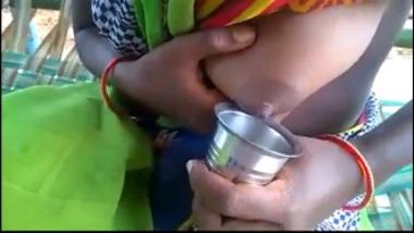 Hot Village Bhabhi Milking Boobs