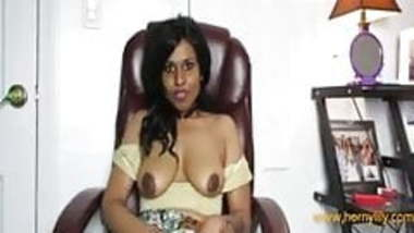 Desi Wife Showing Her Big Melons In Night Gown
