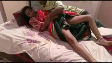 Hot Marathi Wife In Red Saree Sex With Lover