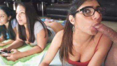 Mia khalifa group sex while playing games