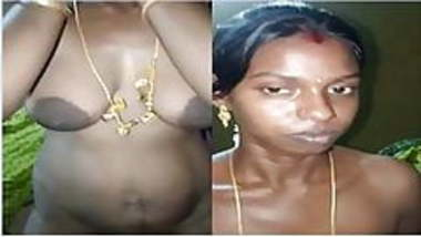 Exclusive – Desi Tamil girl shows boobs and pussy