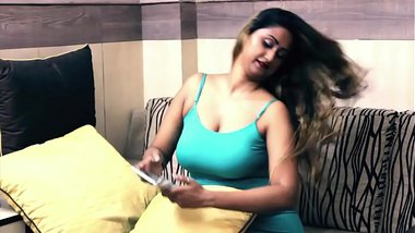 Sexy Hot Desi Girl Huge Round Boobs and Cleavage