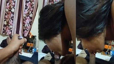 Srilankan girl eating cum of her boyfriend MMS
