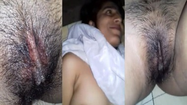 Hairy pussy Desi girl loses her virginity to her lover