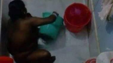 Desi maid bathing nude Hidden spy video