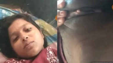 horny bangla girl showing her boobs and pussy fingering on video cal