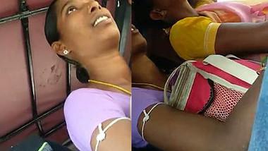 Rubbing hand in boobs side of aunty , Crowd is Advantage