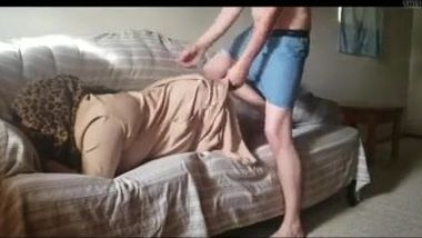 Rich Desi aunty makes her servant fuck her in the ass for money