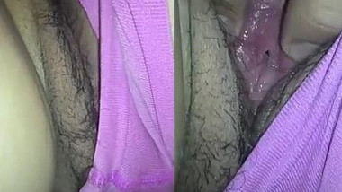 Man begins sex with Desi wife by thrusting fingers into hairy XXX twat