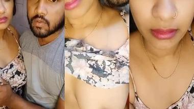 Desi Bhabhi quick fun on cam video MMS to leak cum