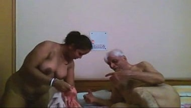 Horny aged Uncle from Delhi fucking his house maid!