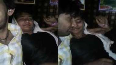 Cameraman went hard filming himself kissing Desi drunk XXX whore