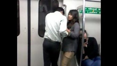 Elegant man meets girl in subway wagon and hints at Desi XXX fuck