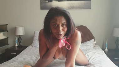 Naked Indian piece of meat degrading herself as well as showing how she wants to be treated