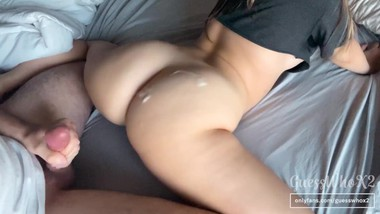College pawg with jiggly ass and small tits gets fucked doggystyle! Amateur couple quickie